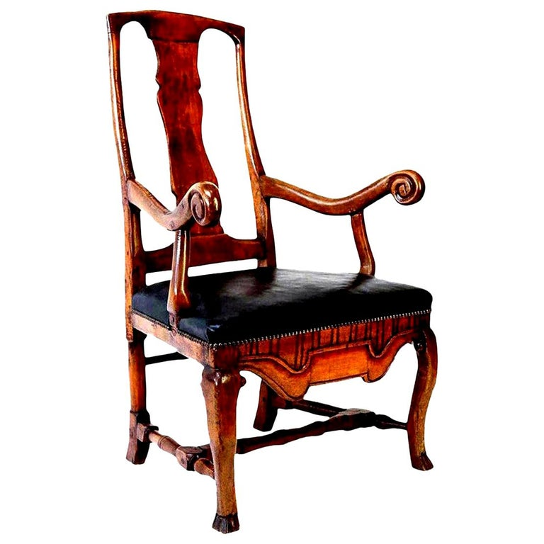 Large Baroque Swedish Armchair For Sale