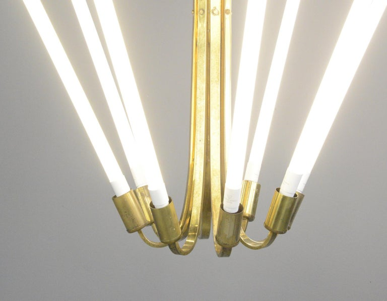 Large Bauhaus Lobby Chandelier, circa 1930s For Sale 4
