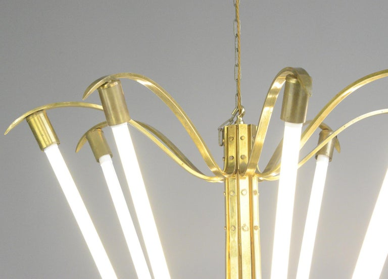 Large Bauhaus Lobby Chandelier, circa 1930s For Sale 5