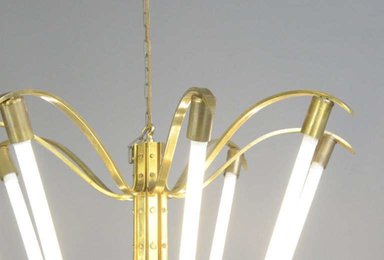 Large Bauhaus Lobby Chandelier, circa 1930s For Sale 6