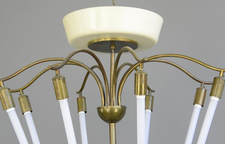 Mid-20th Century Large Bauhaus Lobby Chandelier, circa 1930s For Sale