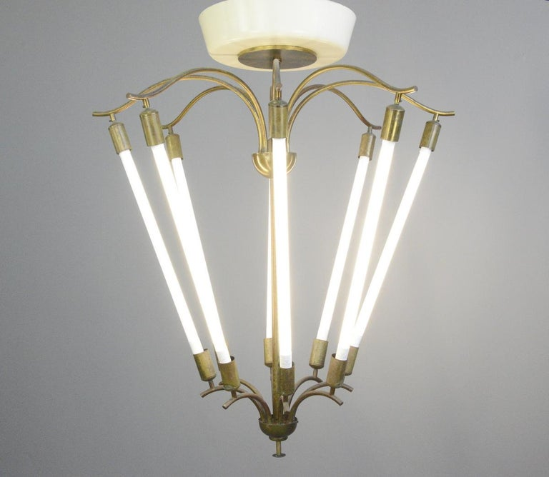 Large Bauhaus Lobby Chandelier, circa 1930s For Sale 1