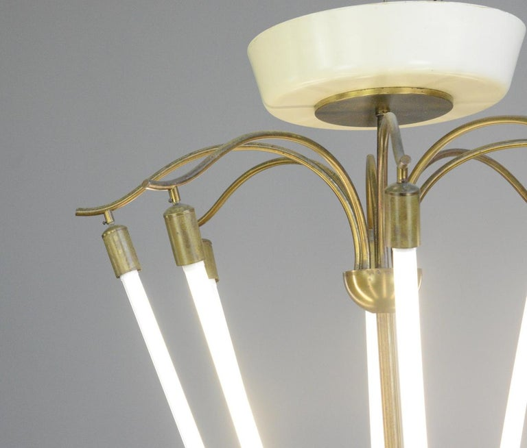 Large Bauhaus Lobby Chandelier, circa 1930s For Sale 2