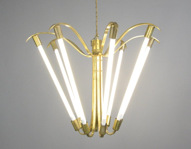 Large Bauhaus Lobby Chandelier, circa 1930s For Sale 3