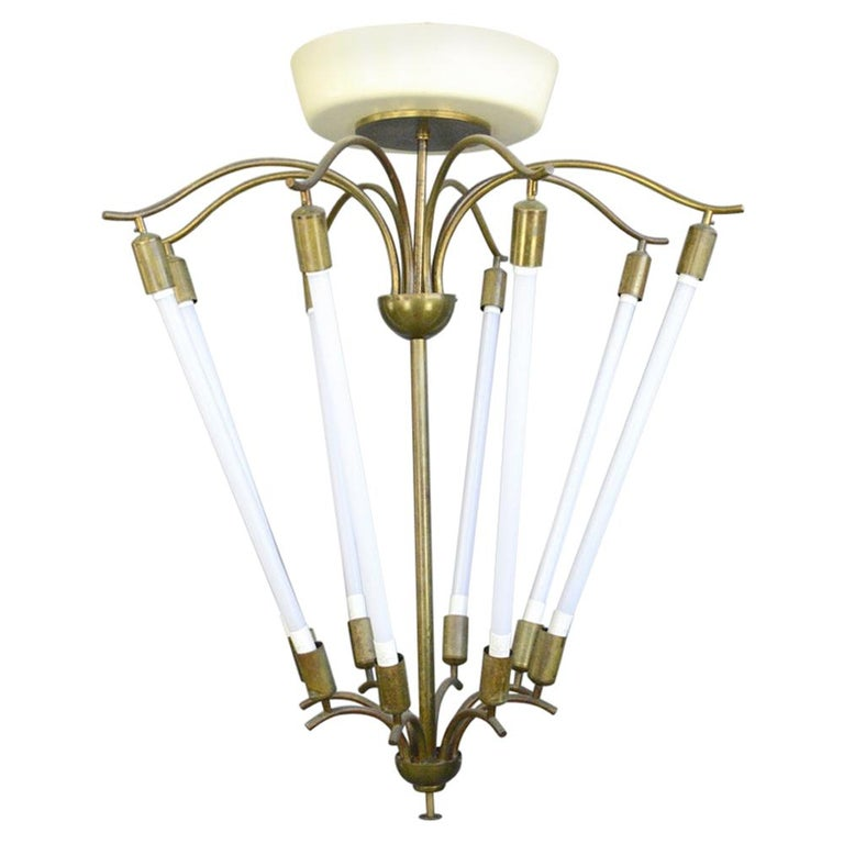 Large Bauhaus Lobby Chandelier, circa 1930s For Sale