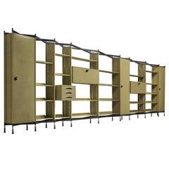 Large BBPR 'Spazio' Wall-Unit in Metal