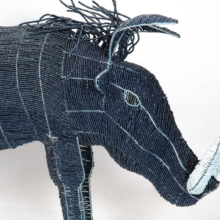 Large Beaded African Warthog In New Condition For Sale In New York, NY
