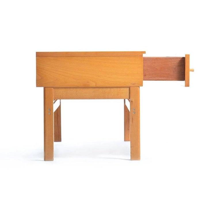 Wood Large Bedside Table by Jitona, Czechoslovakia, circa 1970 For Sale
