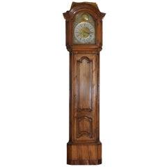 Large Belgian Louis XIV to Louis XV Period Walnut Case Clock, Nicolas De Beefe
