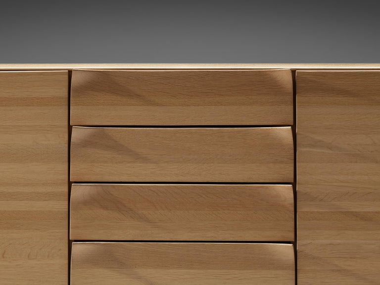 Large Belgian Sideboard in Oak with Folded Handles For Sale 2