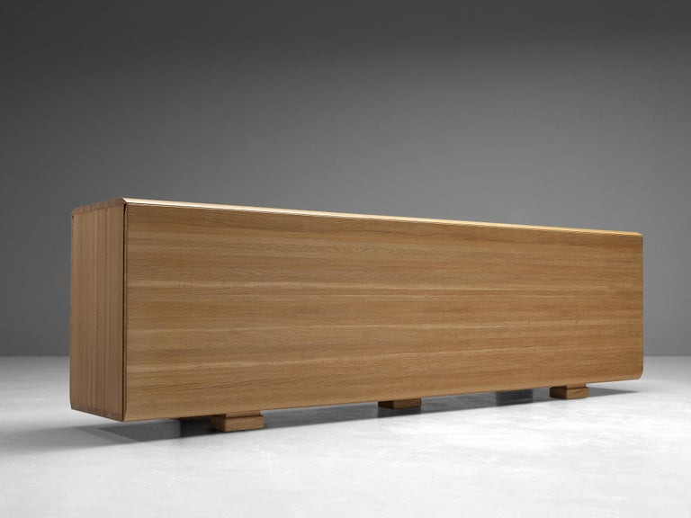 Large Belgian Sideboard in Oak with Folded Handles For Sale 3