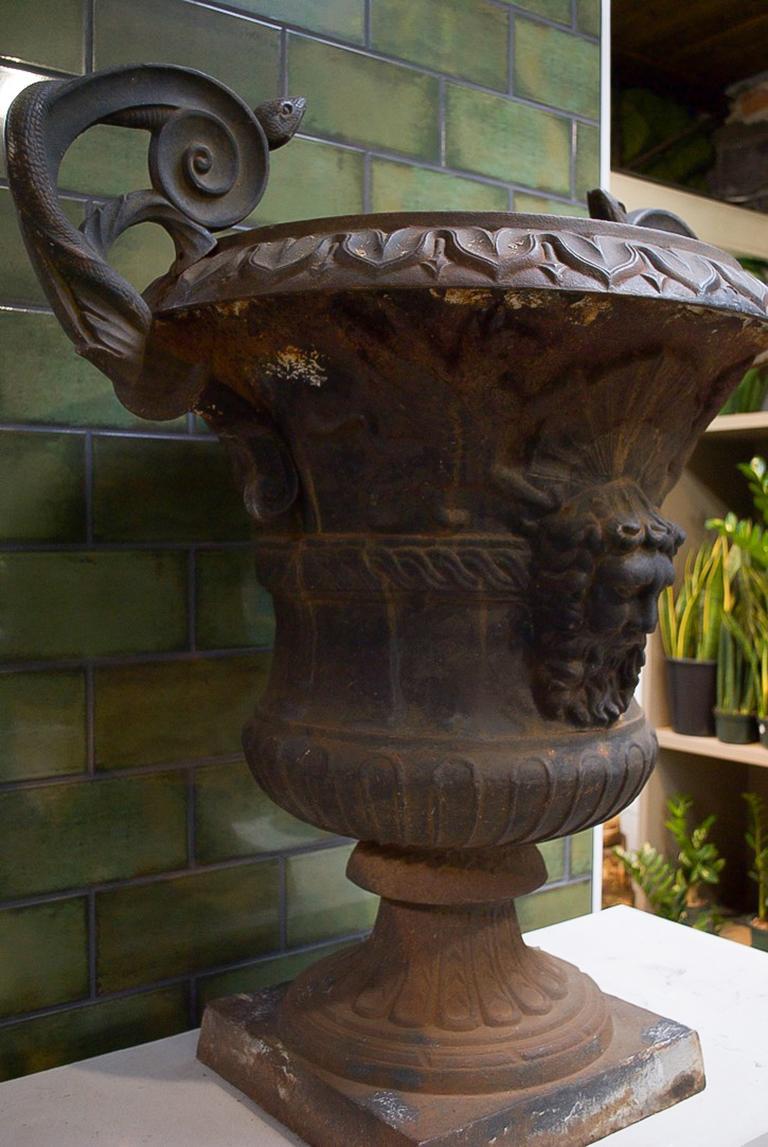 19th Century Large Belle Époque Cast Iron Urn For Sale