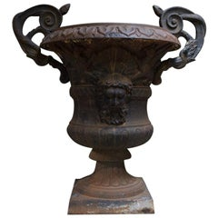 Large Belle Époque Cast Iron Urn