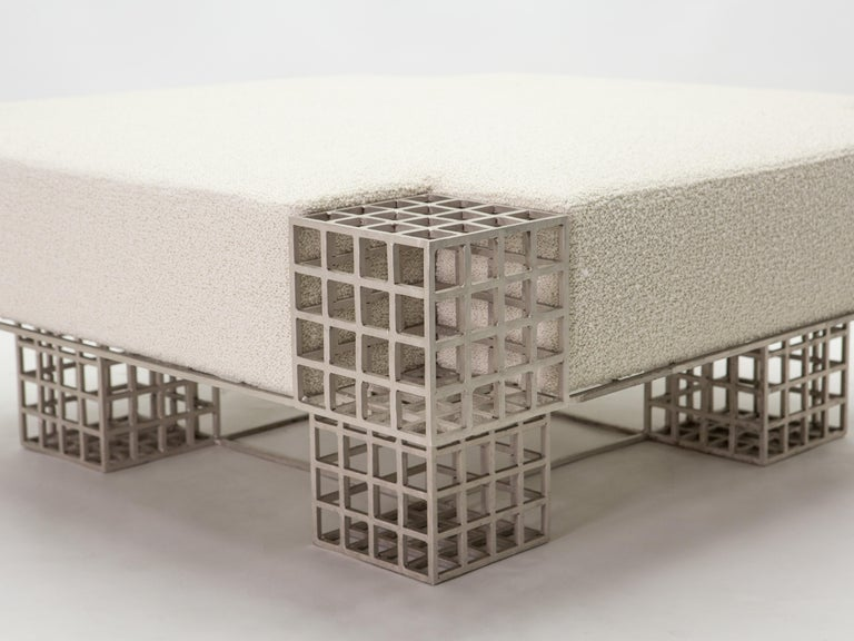 Large Bench Ottoman by Carla Sozzani in Milan, 1990s In Good Condition For Sale In Paris, FR