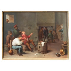 Large Berlin 'K.P.M.' Porcelain Plaque after David II Teniers