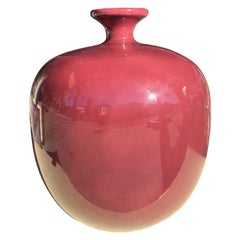 Large Berry Color Ceramic Vintage 1980s Jaru Jar/Vase