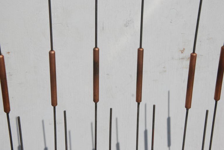 Mid Century Cat Tail Sculpture In Good Condition For Sale In Pasadena, TX