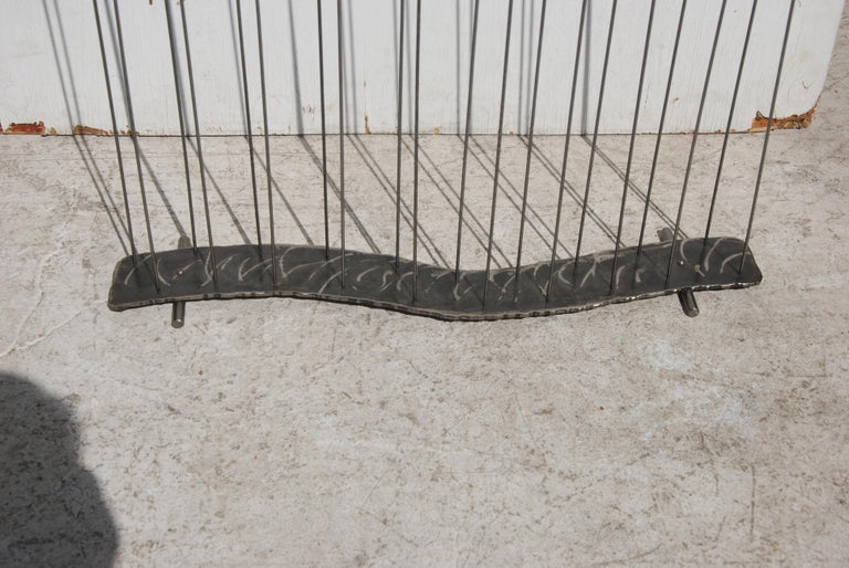 Metal Mid Century Cat Tail Sculpture For Sale