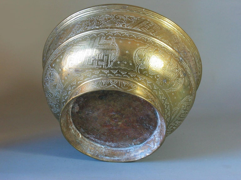 20th Century Large Betel Nut Brass Bowl 'Sireh' East Java Indonesia, circa 1900 For Sale