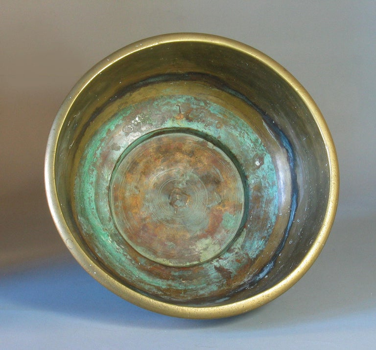 Large Betel Nut Brass Bowl 'Sireh' East Java Indonesia, circa 1900 For Sale 1