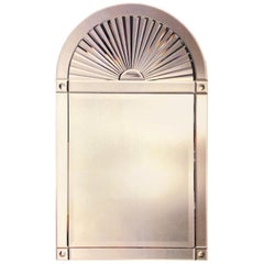 Large Beveled Classic Mirror by Karl Springer