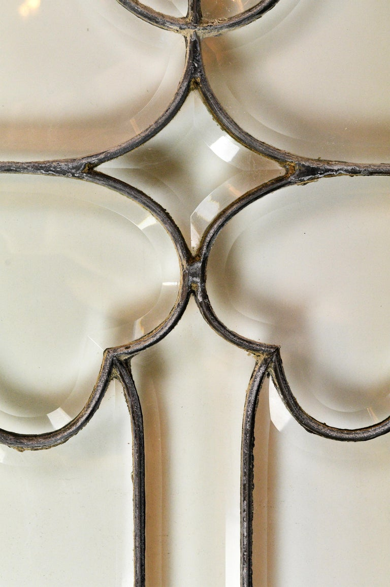 Large Beveled Glass Window For Sale 1