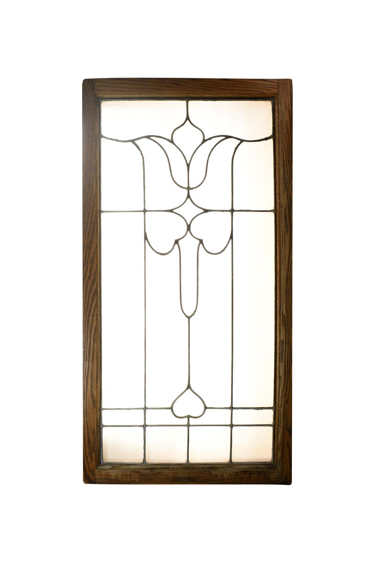 Large Beveled Glass Window For Sale 2