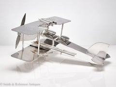 Large Bi-Plane , WW1 Bi-Plane, Zeppelin Cocktail Shaker