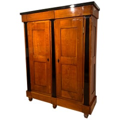 Large Biedermeier Armoire, Cherry Solid Wood, Southwest Germany, circa 1820
