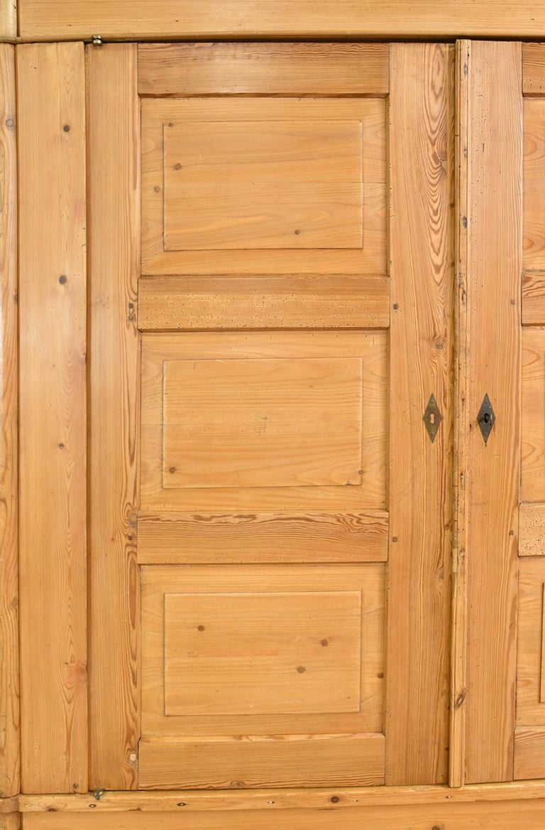 Biedermeier Inspired Scrubbed Pine Armoire from Northern Germany, circa 1820 For Sale 14