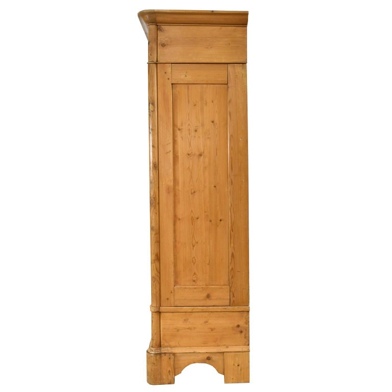 Biedermeier Inspired Scrubbed Pine Armoire from Northern Germany, circa 1820 For Sale 1