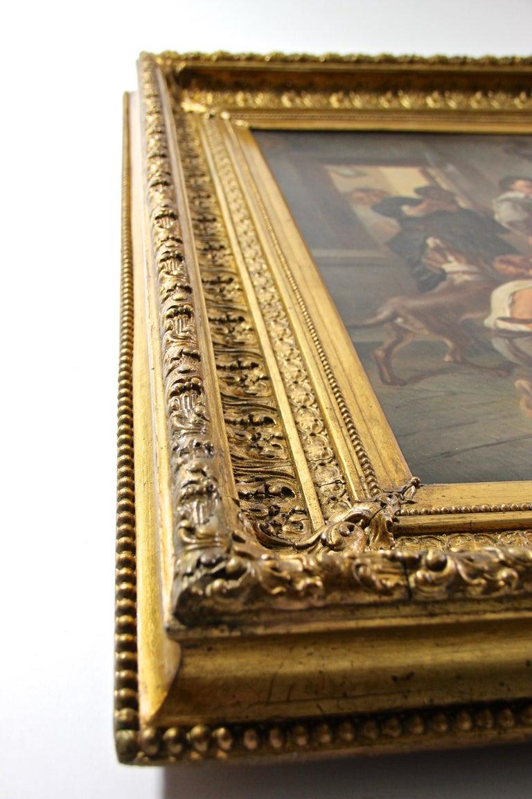 Large Biedermeier Oil Painting by Joseph Haier, Austria, 1840 For Sale 8