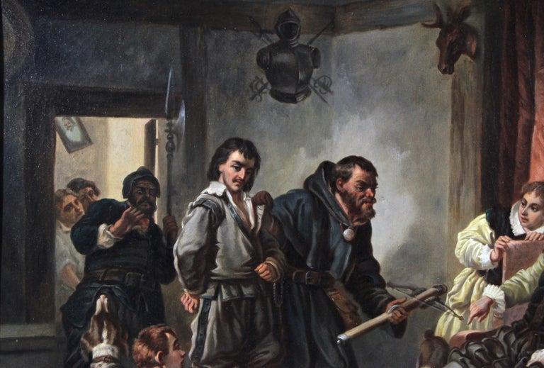 Large Biedermeier Oil Painting by Joseph Haier, Austria, 1840 For Sale 1