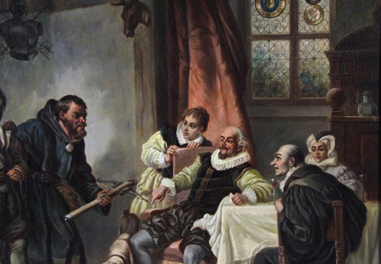 Large Biedermeier Oil Painting by Joseph Haier, Austria, 1840 For Sale 2
