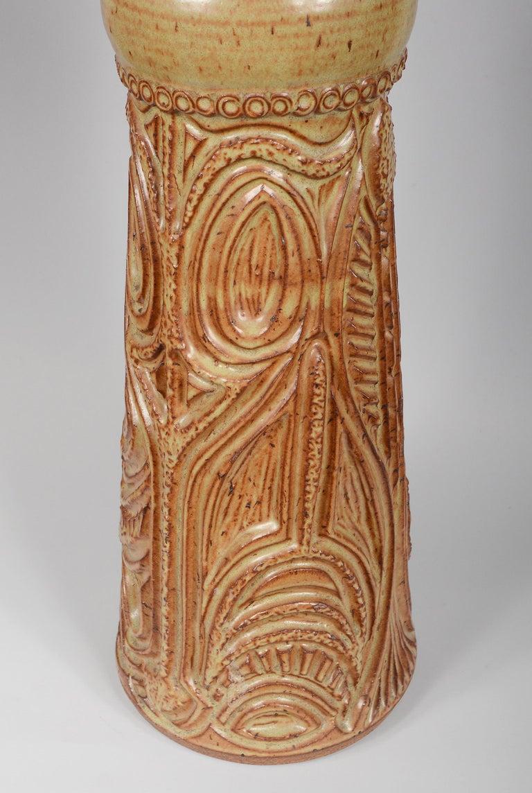 Large Bill and June Vaughn Ceramic Floor Vase For Sale 1