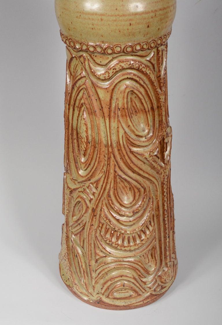 Large Bill and June Vaughn Ceramic Floor Vase For Sale 2