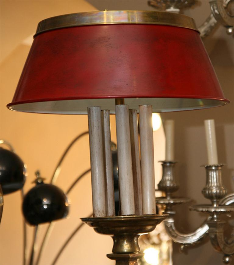 Large Billiard Light Fixture With Tole Shades For Sale At