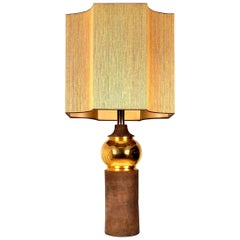Large Bitossi Lamp for Bergboms, with Custom Made Shade by René Houben