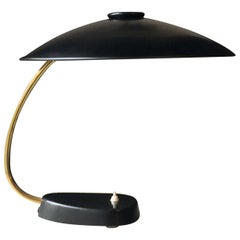 Large Black and Brass Desk Lamp by LBL, Germany, 1962