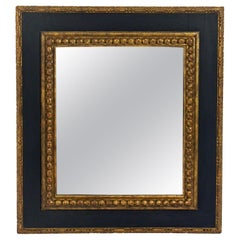 Large Black and Gilt 19th Century Mirror