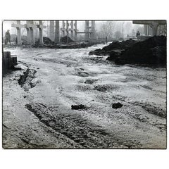 Large Black and White Photo Titled Mud, 20th Century