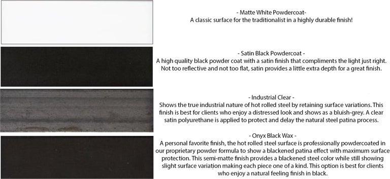 Powder-Coated Large Black Chandelier - Industrial Chandelier - Adjustable Chandelier - Modern