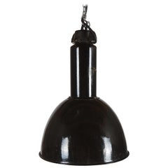 Large Black Factory, Industrial Pendant Lamp
