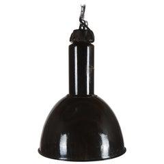 Large Black Factory, Industrial Pendant Lamp