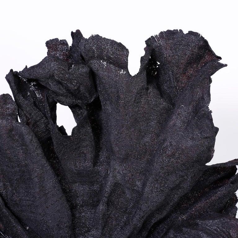 Organic Modern Large Black Fishnet Sea Sponge For Sale