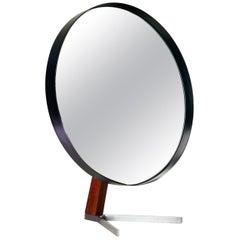Large Black Vintage Table Vanity Mirror by Durlston Designs Ltd, Retro 1960s MCM