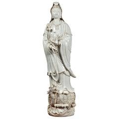 Large, Blanc de Chine Kwan Yin Figure