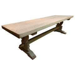 Large Bleached Oak Farmhouse Table