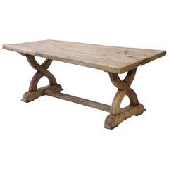 Large Bleached Oak Table