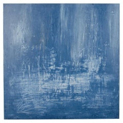 Large Blue Abstract Venetian Plaster Painting, Carol L.Post,  2019
